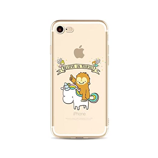 7 opinioni per Cover iPhone 6/6S, Morbida Sottile TPU Gel Silicone Custodia Originale Elegante