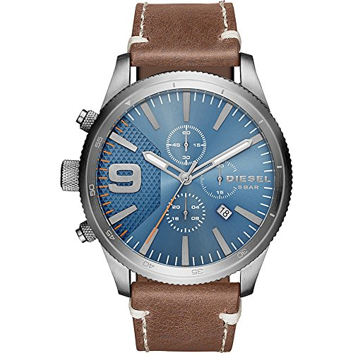 Diesel Men's DZ4443 Rasp Chrono Brown Leather Watch