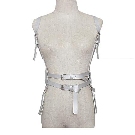 Cinturón de arnés de cuerpo de mujer Mujeres gótico punk de cuero ...