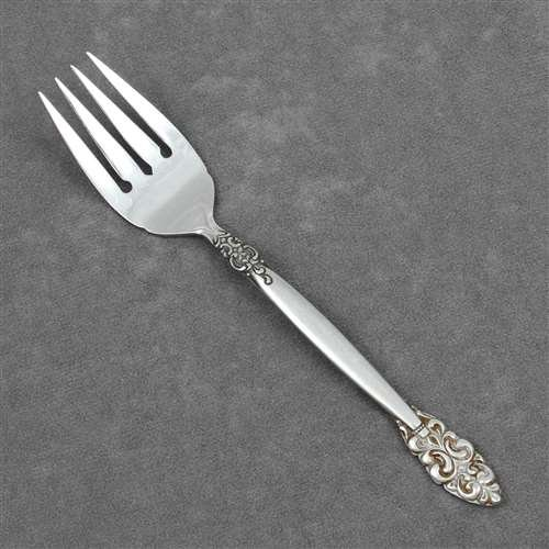 Salad Fork by Japan, Stainless, Scroll Design