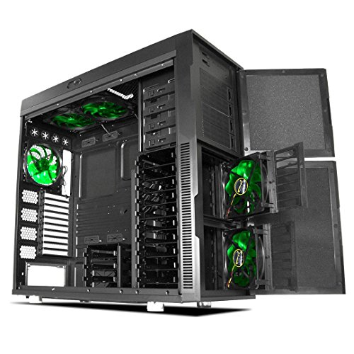 Deep Silence 6 Super Tower HPTX Case for Sensitive Audio Workstation and Storage Dense Applications, Black
