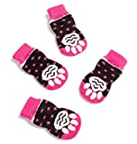 #9: Pet Heroic Anti-Slip Knit Dog Socks&Cat Socks with Rubber Reinforcement, Anti-Slip Knit Dog Paw Protector&Cat Paw Protector for Indoor Wear, Suitable for Small Dogs&Cats