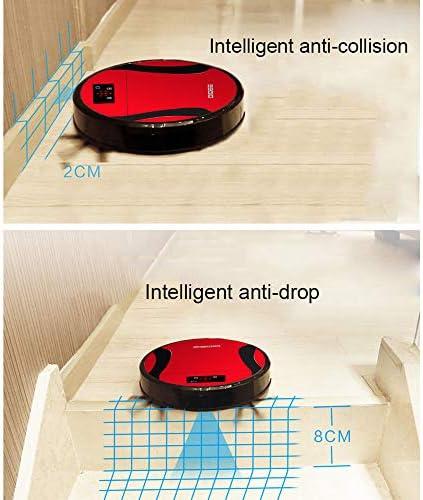 Aspirateur Robot, aspirateur Ultra-Mince Intelligent, Robot de Balayage à Forte Aspiration, aspirateur Silencieux, aspirateur Robot Portable Rechargeable