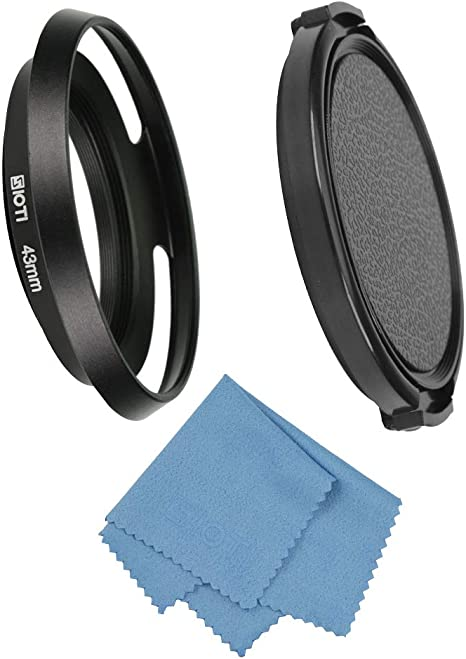 39mm Universal Square Lens Hood Telephoto Standard Wide Angle Lenses Protector Kit Suit for Reduce Interference