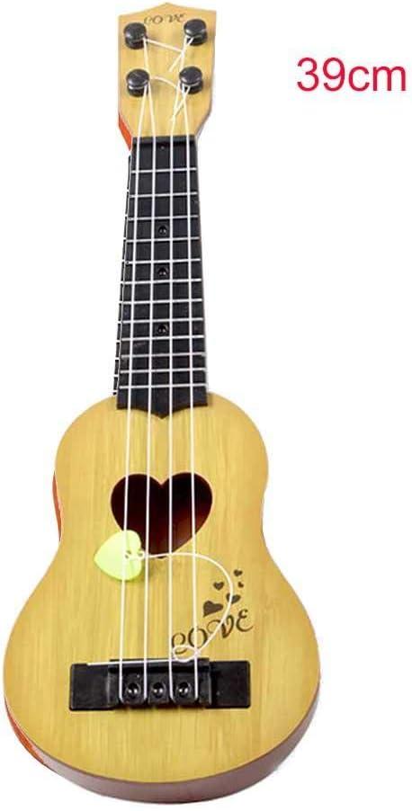 Wovemster Aprendizaje temprano Música Juguete-Mi música Mundo Niños y niñas Rock Instrumento musical Guitarra 39cm 1pcs (Beige)