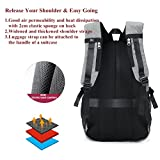 KEYNEW 15.6 inch Canvas Basketball Backpack with