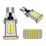 LUYED 2 X 1550 Lumens Extremely Bright Error Free 921 912 W16W 3030 24-EX Chipsets LED Bulbs Used For Backup Reverse Lights, Xenon White(Brightest backup light on the market)