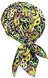 Mardi Gras Doo Rag Cap Masquerade Mask Party Bandana Head Wrap