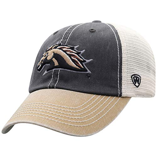 (Top of the World Men's Relaxed Fit Adjustable Mesh Offroad Hat Team Color Icon, Western Michigan Broncos Brown,)