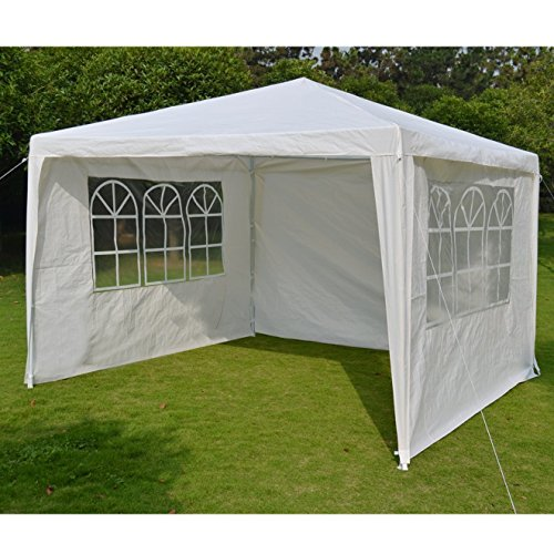 STRONG CAMEL Wedding Party Tent 10'x10′ Outdoor Eazy Set Gazebo Pavilion Canopy BBQ Cater Events