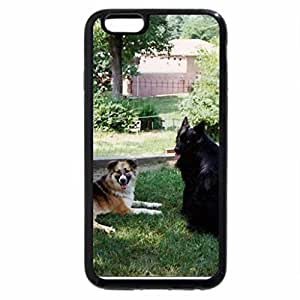 """iPhone 6S / iPhone 6 Case (Black) """"Lobo and friend"""""""