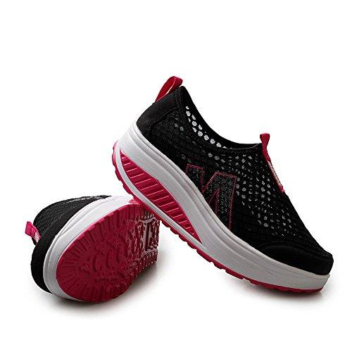 Sneaker Air Scarpe Donna Traspirante Swing Scarpa Zeppe Mesh Moda Nero Platform Mocassini Bhydry Uqw45f