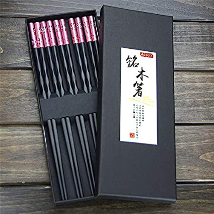 5 pares de palillos Vistaric y caja de regalo, aptos para ...