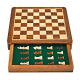 10 Inch Classic Wooden Chess Set With Magnetic Chess Board Handcrafted ...