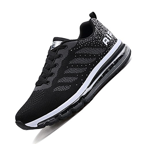 Air Athletic 9 Shock 5 Outdoor Sport 833black Size Running Jogging Monrinda Breathable Shoes Shoes 4 Trainers Women Men Absorbing Fitness xqCIPFf