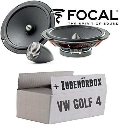 Lautsprecher Boxen Focal Isu165 16cm 2 Wege System Auto Einbauzubehör Einbauset Für Vw Golf 4 Just Sound Best Choice For Caraudio Navigation