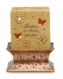 Comfort Candles Sister are a Blessing by Pavilion 5-1/2-Inch Tall Candle Holder Including Base and Tea Light Candle