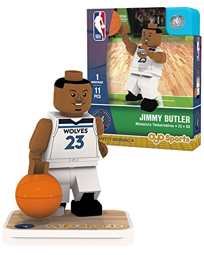 OYO NBA Minnesota Timberwolves Jimmy Butler Association Home Uniform Minifigure, Small, No Color