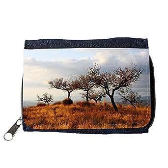 le portefeuille de grands luxe femmes avec beaucoup de compartiments // M00237012 Los árboles de pastizales de la estepa // Purse Wallet
