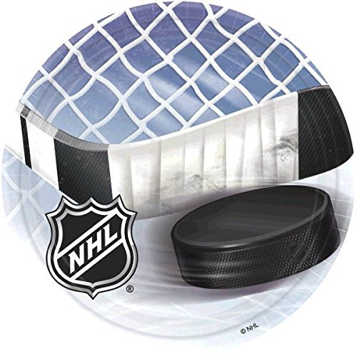 - Amscan Sports and Tailgating NHL Party NHL Ice Time! Round Plates Tableware, Paper, 9