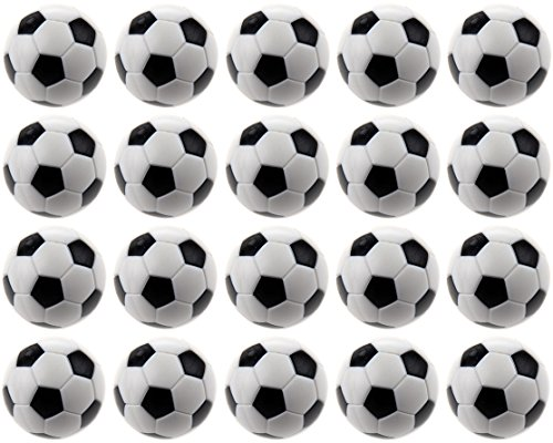 Small Soccer Ball Rug - Actopus 20PCS Foosball Balls 32mm Replacement Foot Ball Table Soccer