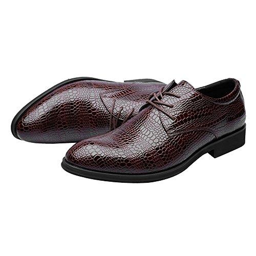 coccodrillo traspiranti uomo Shoes da Texture Marrone superiori pelle Scarpe da Scarpe EU Stringate di 44 in lavoro Dimensione Stringate Marrone pelle di Color pelle PU BMD in 6nRdUvU