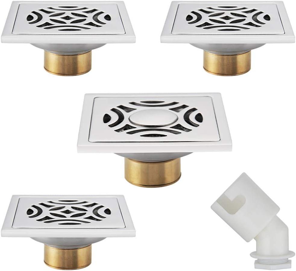 ZTHC Acero Inoxidable Grande de Drenaje de Suelo Desplazamiento Alcantarilla Desodorante Piso desag/üe Adecuado for el balc/ón al Aire Libre Patio Color : Silver
