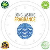 Scented Urinal Screens 10 Pack – Blue Ocean Mist Fragrance – Good for 5,000 Flushes – Fresh Wave 2.0 Anti-Splash & Odor Neutralizer …