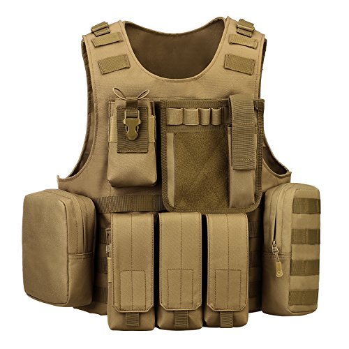 (ArcEnCiel Tactical Molle Vest, Coyote Brown)