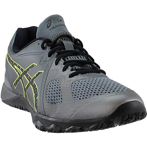 ASICS Mens Conviction X Cross Trainer, Carbon/Black/Energy Green, 11.5 Medium US