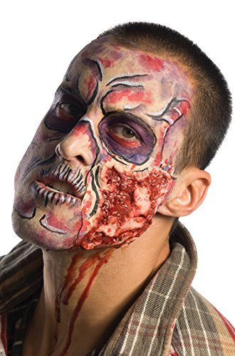 Costume Makeup Zombie Walking Dead (Inspired By The Walking Dead Deluxe Step-by-Step Make Up Kit, Multi, One)