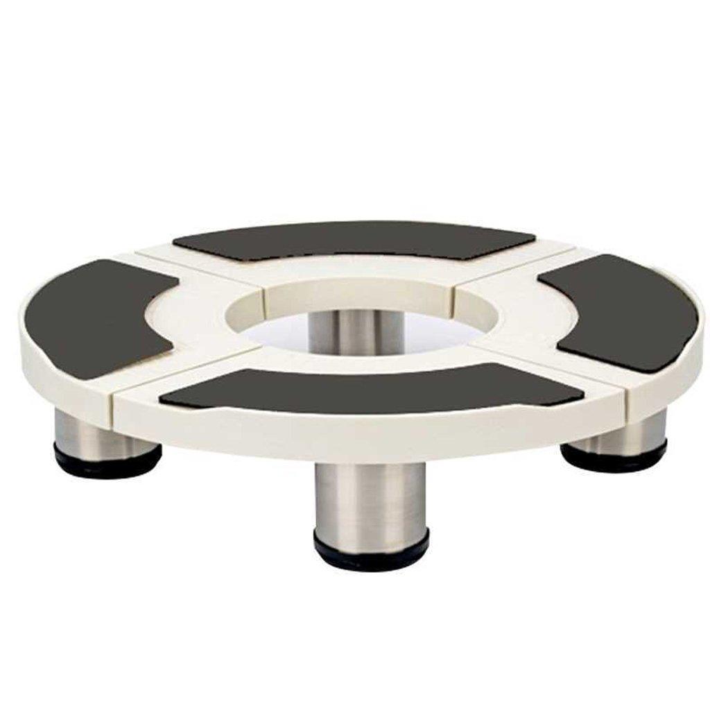 DJ&YH 円筒形エアコンディショナーキャビネットベースブラケット4ファイルフラワーポットモッププール移動ブラケット (色 : ブラック, サイズ さいず : 11cm) 11cm ブラック B07R3RPHDP