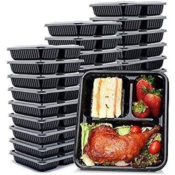 Amazon.com: ChefLand 3-Compartment Microwave Safe Food