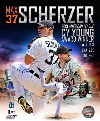 Max Scherzer Detroit Tigers 2013 AL CY Young Award Photo 8x10