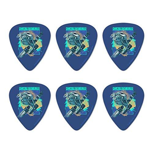 Carved Marlin Sailfish Fishing Reel Novelty Guitar Picks Medium Gauge - Set of 6 ()
