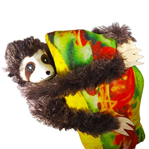 "Wonkey Brothers Taco Sloth Plush Stuffed Animal & Pillow Combo – Fun Gift for All Ages – 9"" Set of Soft Fun (Dark Brown Taco Sloth) by Wonkey Brothers"