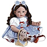 Wizard Of Oz Dorothy Gale Toddler Time Doll w/Toto in Basket & Ruby Slippers
