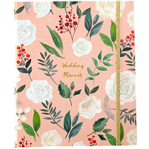 The Dream Wedding Planner | Luxury Wedding Organizer Book with Beautiful Souvenir Gift Box | Perfect Wedding Journal for Brides | Checklists, Calendar, Budget Planning, Guest List | Pink & Foliage
