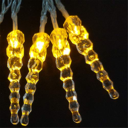 BGFHDSD 4M 40Leds New LED Light Flashing Lane LED String Lamps Icicle Christmas Festival Lights Luces Festival Carambano Cortina Yellow by BGFHDSD (Image #1)