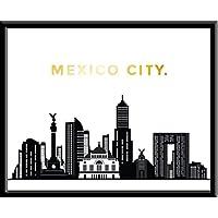 Cuadro Decorativo Mexico City CDMX DF Skyline ciudad City Amor Impresion, Cuadro decorativo Print Love Te Amo Regalo Arte Poster Cuadro Decorativo Art Wall Art Vintage Decor Home Decor Decoración Retro Hipster Cool