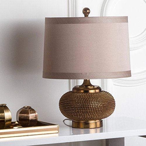 Safavieh Lighting Collection Alexis Gold Bead 19-inch Table Lamp