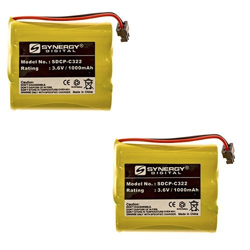 (Radio Shack 23-193 Cordless Phone Battery Combo-Pack includes: 2 x SDCP-C322 Batteries)