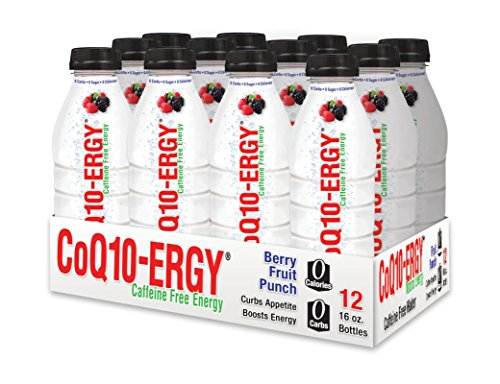 CoQ10-ERGY Functional Water Drink | Heart Smart Nutraceuticals Natural Energy Water with CoQ10 - ZERO calories, ZERO sugar | Case of 12, 16 oz. bottles