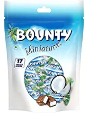 Bounty Miniatures Milk Chocolate Mini Bars, Pouch, 150 gm