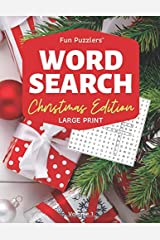 "Word Search: Christmas Edition Volume 1: 8.5"" x 11"" Large Print (Fun Puzzlers Large Print Word Search Books) Paperback"