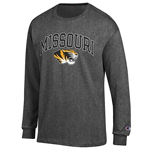 - Elite Fan Missouri Tigers Men's Long Sleeve Arch Tee Shirt, Dark Heather, XX Large