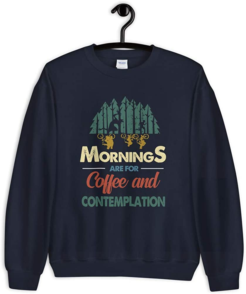 Stranger Thing Friends Dont Lie Morning are for Coffee and Contemplation Retro Vintage Men//Women Unisex Sweatshirt