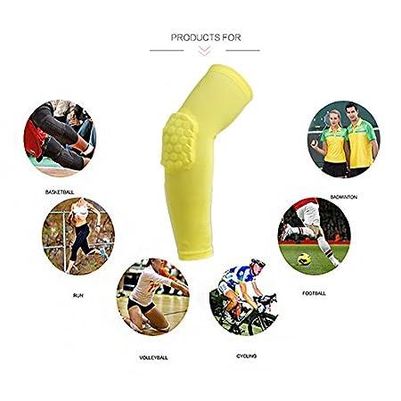 coude de de Basket-Ball Protection Anti-Choc pour Adulte//Enfant VIMOER Manche de Protection Anti-d/érapant /à Manches Longues