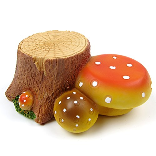 Alfie Pet by Petoga Couture – Shura Stump Mushroom Habitat Decor for Mouse, Chinchilla, Rat, Gerbil and Dwarf Hamster