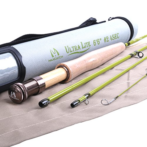 Maxcatch Ultra-lite Fly Rod for Streams (2-weight 6'6'' 4-Piece)